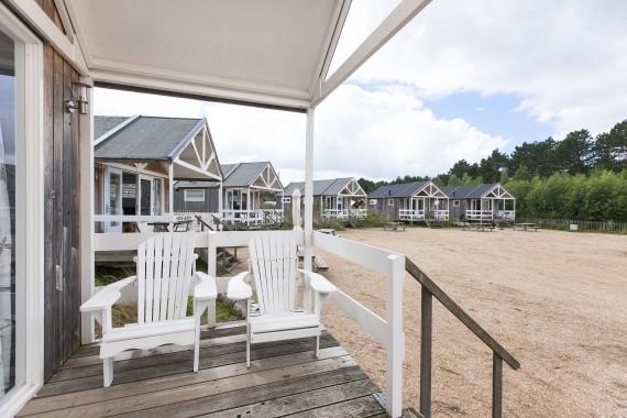 Strandhuisje buitenkant